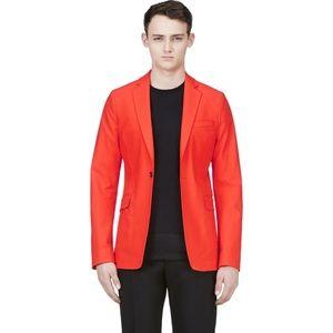 Acne Studios Blood Orange Cotton Noel Blazer